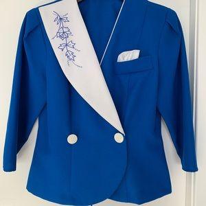 Vintage royal blue blazer
